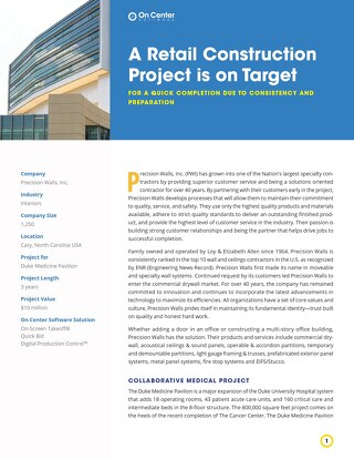 A Retail Construction Project is on Target
