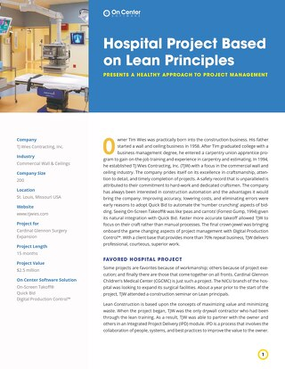 Hospital Project Based on Lean Principles