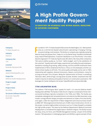 A High Profile Government Facility Project