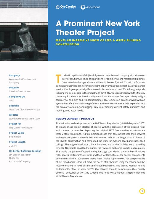 A Prominent New York Theater Project