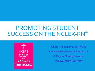 Promoting Student Success on the NCLEX-RN