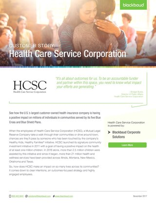 Health Care Service Corporation: Customer Story
