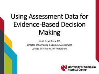 AOT Toronto - Using Assessment Data for Evidence-Based Decision Making