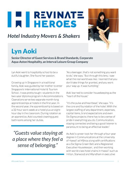 Revinate Heroes: Lyn Aoki