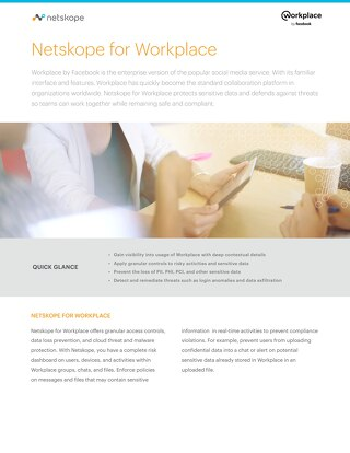 Netskope for Workplace by Facebook