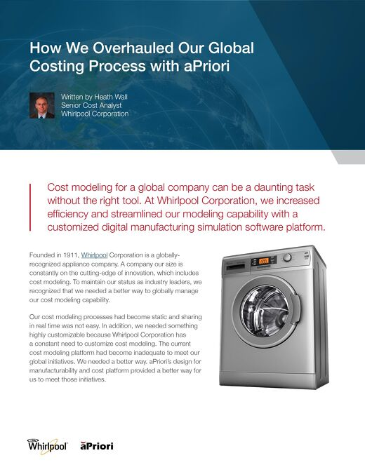 How Whirlpool Overhauled Their Global Costing Process with aPriori