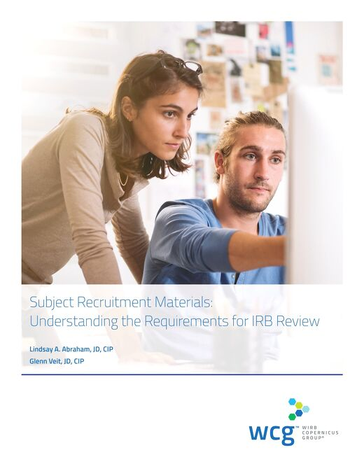 Subject Recruitment Materials: Understanding the Requirements for IRB Review