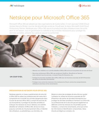 Netskope Pour Office 365 - French
