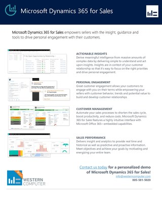 Overview of Microsoft Dynamics 365 for Sales