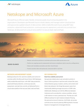 Netskope and Microsoft Azure