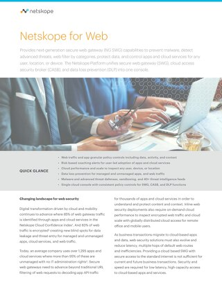 Netskope for Web