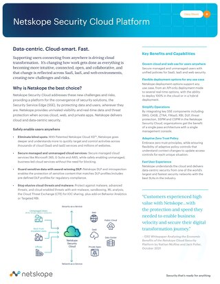 Netskope Cloud Security Platform