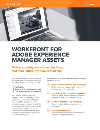Workfront for Adobe Experience Manager Assets