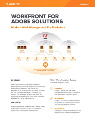 Workfront for Adobe Solutions