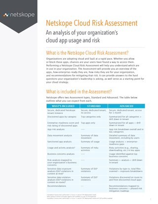 Data Sheet - Netskope Cloud Risk Assessment (CRA)