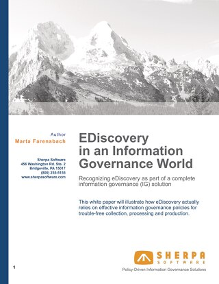 EDiscovery in an Information Governance World