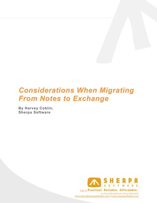 Considerations When Migrating from Notes to Exchange