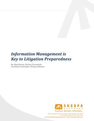 Information Management is Key to Litigation Preparedness