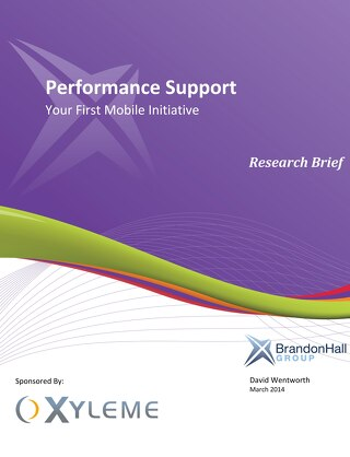 Performance Support: Your First Mobile Initiative