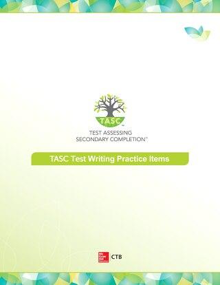 TASC Test Writing Sample Items