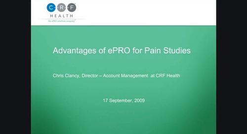 Advantage of ePRO for Pain Studies