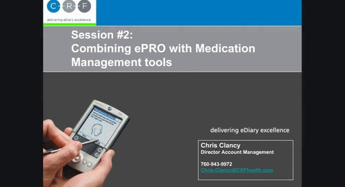 Combining ePRO with Medication Management Tools