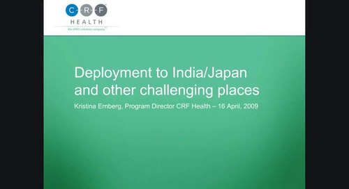 Deployment to India/Japan and Other Challenging Places