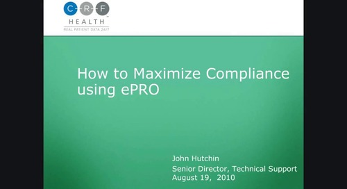 How to Maximize Compliance using ePRO
