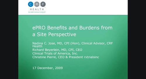 ePRO Benefits and Burdens from a Site Perspective