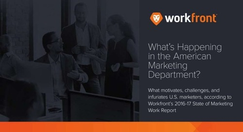 10 Highlights From the 2016 State of Marketing Work Report
