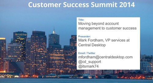 Moving beyond account management to customer success
