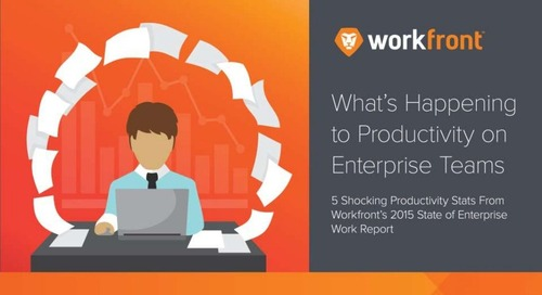 5 Shocking Productivity Stats From the 2015 State of Enterprise Work Report
