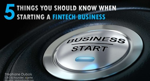 5 Things You Should Know When Starting a Fintech Company