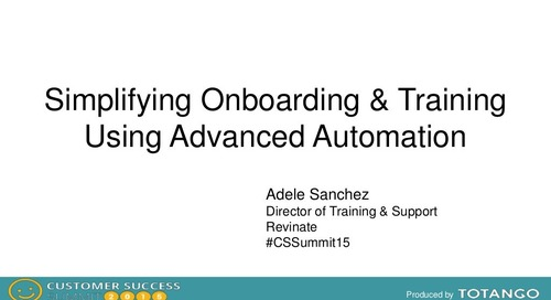 SIMPLIFYING ONBOARDING USING ADVANCED AUTOMATION