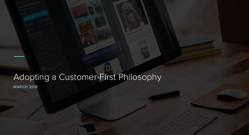 Adopting a Customer First Philosophy
