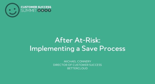 After at risk - implementing a save process