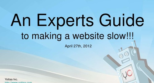 An Expert's Guide to Making a Website Slow - Chicago Webmasters Meetup 6/5/2012