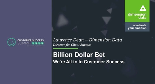 Million Dollar Bet - We're All-in In Customer Success