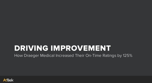 How Draeger Medical Increased Their On-Time Ratings By 125% With AtTask