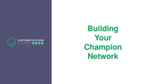 Building Your Champion Network