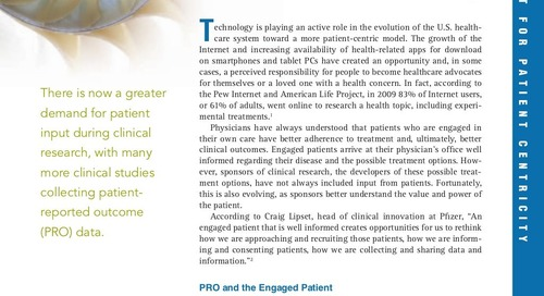 ePRO Helps Sponsors Deliver a More Patient-Centric Study