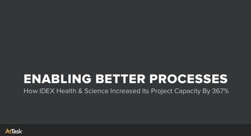 How IDEX Health & Science Increased Project Capacity by 367% with AtTask