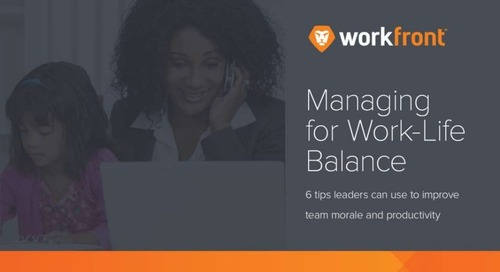 Managing for Work-Life Balance