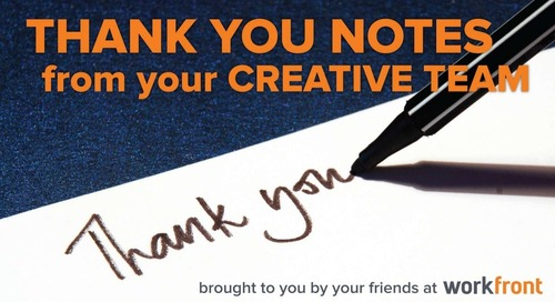 10 Thank You Notes From Your Marketing Creative Team