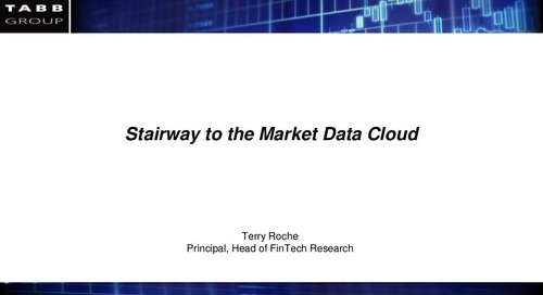 Why can cloud-based market data delivery can be a differentiating factor within a firm's operations?