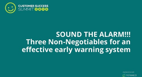 Sound the Alarm: Three Non-negotiables for an Effective Early Warning System