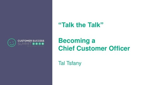 How to Become a CCO - Talk the Talk
