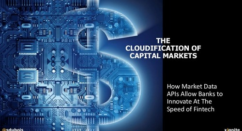 The Cloudification of Capital Markets