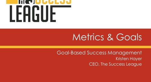 Metrics & Goals - Goal Based Management