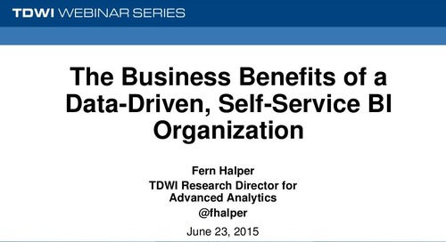 The Business Benefits of a Data-Driven, Self-Service BI Organization
